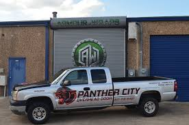 City Overhead Doors Advertisement Wrap Panther City Overhead Door Armour Wraps