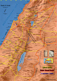Map Of Ancient Italy by Map Of The Roads In Ancient Israel Bible History Online