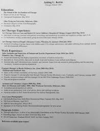 Resume For Photographer Resume U2014 Aisling Kerns