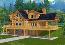 45 mountain log home plans with walk out basements to new