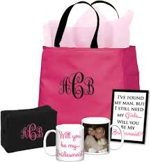 bridesmaid gift bags will you be my bridesmaid gift bag with mug personalized brides