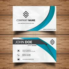 Business Card Backgrounds Free Download Ai Professional White And Blue Business Card Vector Free Download