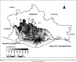Oaxaca Mexico Map Variability Of Extreme Precipitation In Coastal River Basins Of