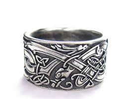 wolf wedding rings viking wolf ring sterling silver viking ring by argentumarcana
