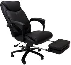 massage reclining leather office chair w footrest