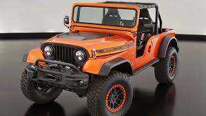 jeep wrangler orange the jeep wrangler cj66 sema concept is the ultimate throwback 4x4