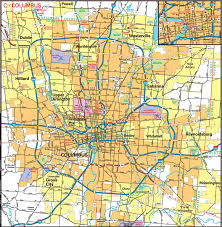 map of columbus columbus map map of columbus ohio ohio usa
