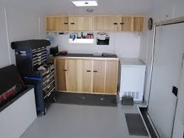 race car trailer cabinets lets see your cheap enclosed trailer mods page 3 yellow bullet