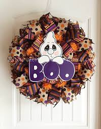 Halloween Ghost Decor Halloween Wreath Ghost Wreath Halloween Ghost Wreath Boo Wreath