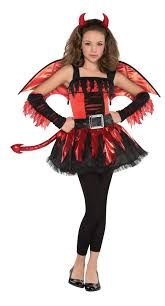 Young Girls Halloween Costumes Red Devil Daredevil Girls Halloween Party Fancy Dress Childs