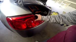 nissan 350z tail lights g35 6mt tail light removal and reverse light led conversion youtube