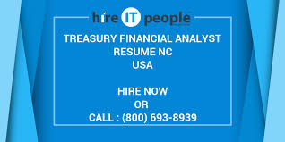 Treasury Analyst Resume Treasury Financial Analyst Resume Nc Hire It People We Get It Done