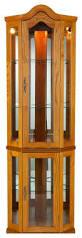 Corner Curio Cabinet Australia Riley Lighted Corner Curio Cabinet Traditional China Cabinets