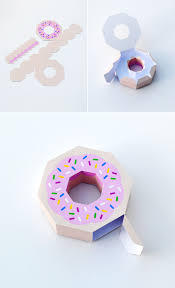 individual ornament gift boxes giftwrap paper donut donuts candy boxes and free printable