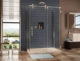 bathroom beauty shower tiles ideas with blue ceramic wall and