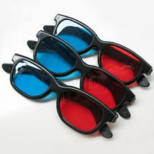 blue 3d glasses three dimensional glasses pc ac for 3d dvd