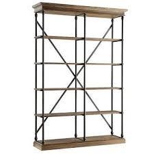 Etagere Wood Industrial Wood Iron Etagere Bookcase