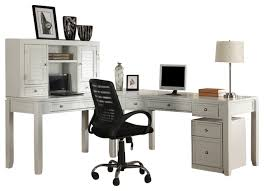 L Shaped White Desk Exellent L Shaped Desk With Hutch White Ldesk Office Set To Design