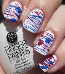 the polishaholic 4th of july sugar spun nail art