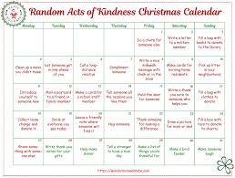 christmas calendar free random acts of kindness christmas calendar free homeschool