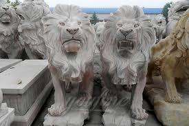 marble lion outdoor hot sale garden carving marble lion for decoration