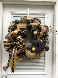 25 unique saints wreath ideas on pinterest who dat new orleans