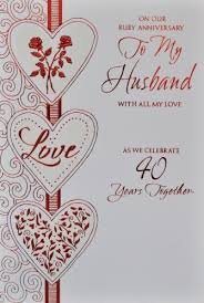 anniversary cards for anniversary cards for husband husband ruby anniversary