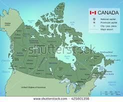 map of canada by province illustrated map canada stock vector 574582774