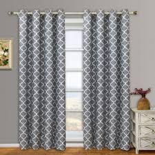 Gray And White Blackout Curtains Gray Blackout Curtains Sheer Inches Grommet Grey And White 1