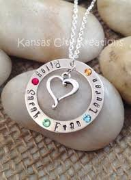 Mothers Necklace With Initials Sterling Silver Birthstone Mother Necklace Custom Personalized