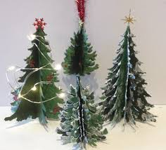 annes papercreations 3d christmas paper tree tutorial