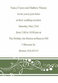 reception card inexpensive country green flower simple wedding cards with