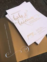 Customized Wedding Invitations Foil Printed Wedding Invitations 7462