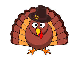 turkey in pilgrim hat thanksgiving clipart holidays