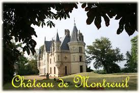 chambre d hote maine et loire le chateau de montreuil à montreuil sur loir anjou et loire