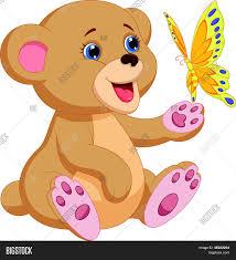imagenes animadas oso vector y foto dibujos animados de oso lindo beb bigstock