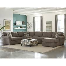 living spaces emerson sofa casual classic brown 4 piece sectional orion everything home