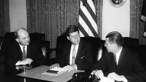 John F Kennedy Cabinet Members Twe Remembers John Kennedy Prepares To Tell The Nation About