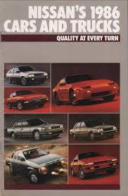 nissan pulsar 1982 1986 nissan sales brochure