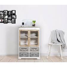 mobili credenza mobili rebecca皰 credenza mobile cucina 4 cassetti 2 ante bianco
