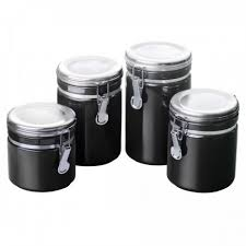 black and white kitchen canisters black kitchen canister sets decorating clear