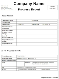 what are general report templates general daily progress report