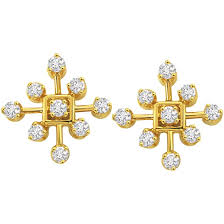 diamond earrings online geometrical earrings buy geometrical diamond earrings online at