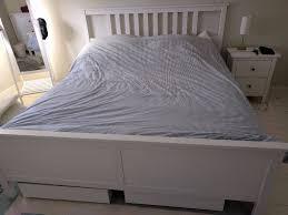 ikea hemnes super king bed and underbed storage in highgate