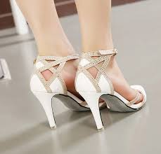 wedding shoes ankle high heel white rhinestone wedding shoes ankle t bar