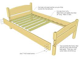 How To Make Bed Frame How To Build A Twin Size Bed Frame 815