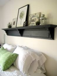 soft handmade headboard for classy bed idea with traditional look