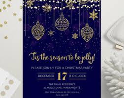 Christmas Ornament Party Invitations - christmas invitation etsy