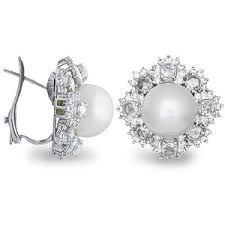 diamond and pearl earrings south sea pearl earrings pearl and diamond earrings south
