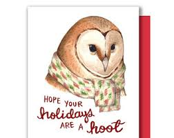 Barn Owl Holidays Capy Holidays Capybara Happy Holiday Christmas Card